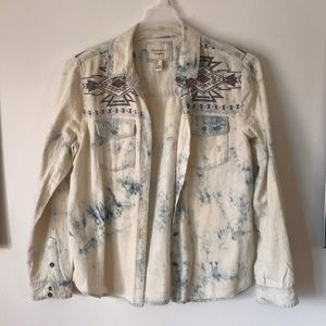 Forever 21 Distressed Button Up